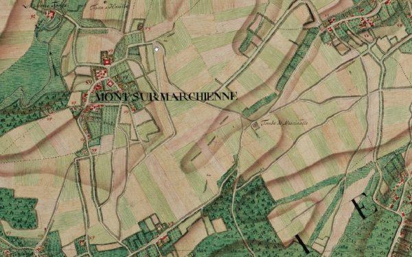 Exemple de carte Ferraris : Mont-sur-Marchienne