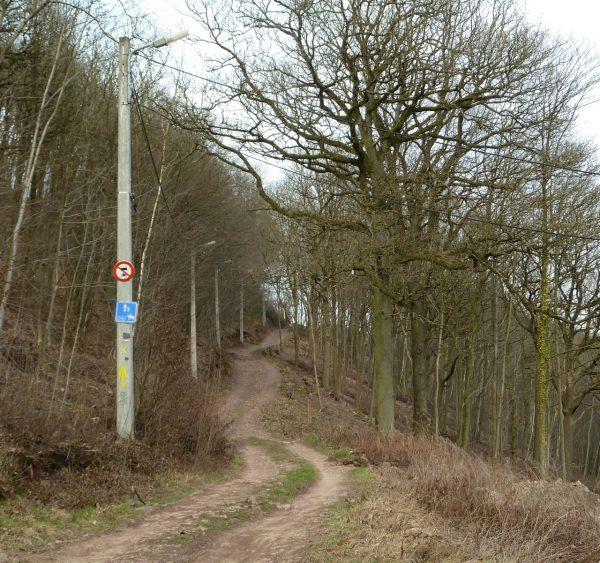 Le chemin est pourvu d'éclairage public et entretenu par la commune depuis de nombreuses années - © Sentiers.be