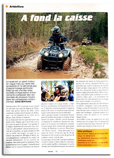 Extrait de la revue « Touring » - Juin 2003 - p.60