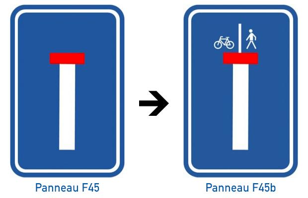 Panneaux F45 et F45b