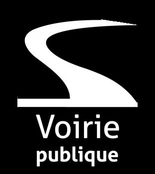 Logo voirie publique noir