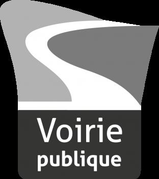 Logo voirie publique nuances de gris